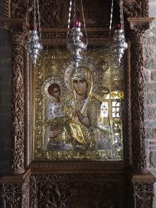 Quadro bizantino em Meteora.